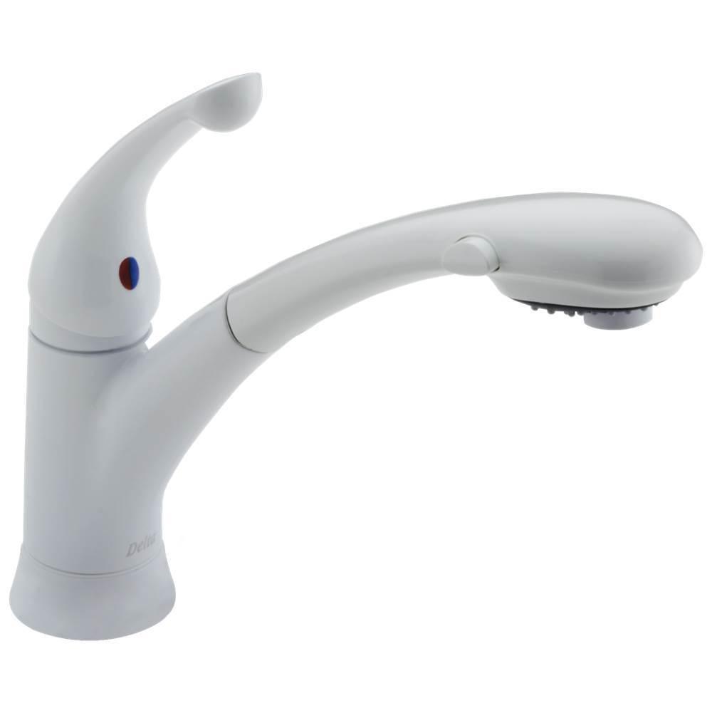Kitchen Faucets Deck Mount White | Central Kitchen & Bath Showroom ...