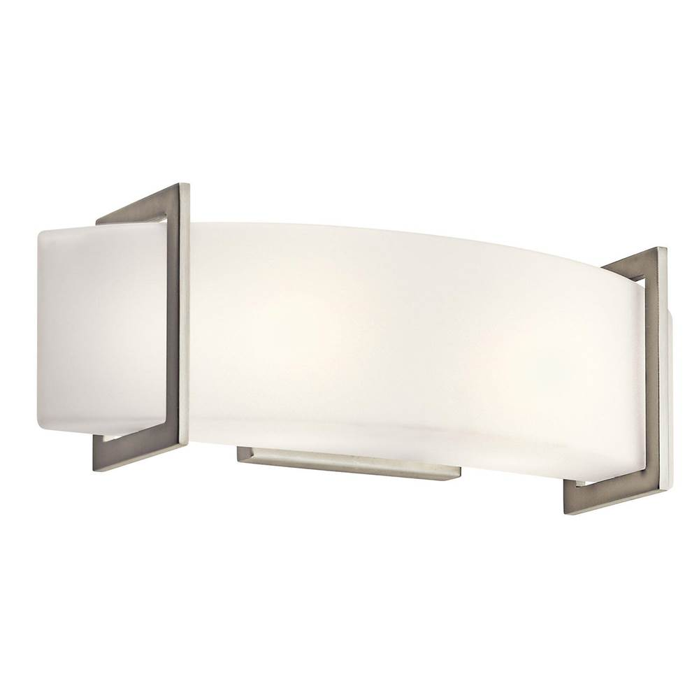 Kichler brushed nickel wall mt 1lt incandescent kichler brushed nickel -  405 00 45218ni Kichler Lighting Linear Wall 18in Brushed Nickel