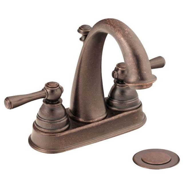 Bathroom Bronze Tones Central Kitchen Bath Showroom Sioux City Lahara Two Handle Center Set Faucet Parts Diagram Model 538 28355 46455 6121orb Moen Oil Rubbed High Arc Available In 4 Finishes Centerset