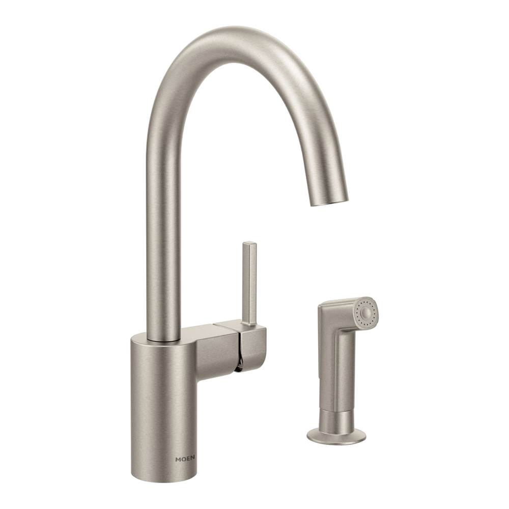 Faucets Kitchen Faucets Single Hole Pewter Central Kitchen Bath