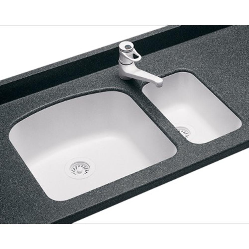 White Kitchen Sink Undermount sinks kitchen sinks undermount | central kitchen & bath showroom